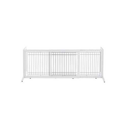 Richell Freestanding Pet Gate in Origami White Large 71.3 L X 17.7 W X 20.1 H.
