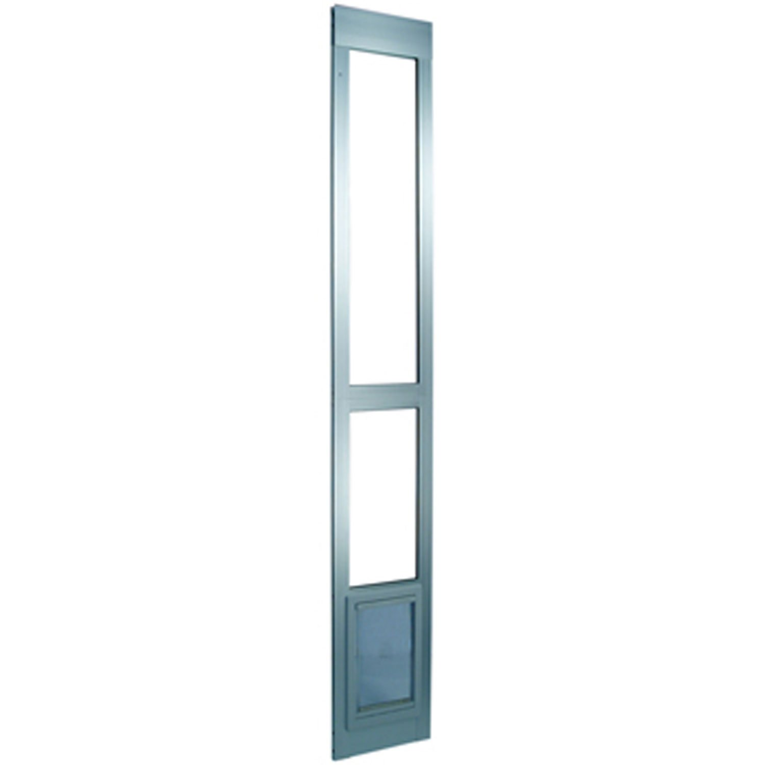 Perfect Pet Modular Patio Panel Pet Door in Mill 15.375IN x 1.875IN x 40.75IN XLarge Silver
