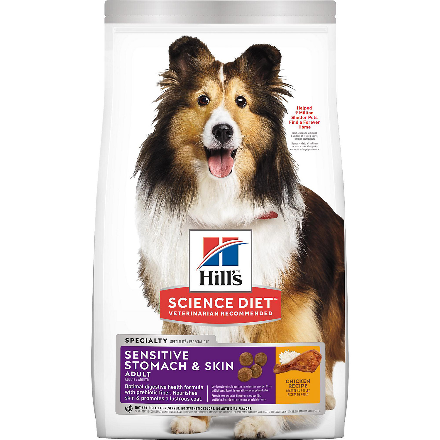 Hills Science Diet Sensitive Stomach  Skin Adult Dry Dog Food 30 lbs.