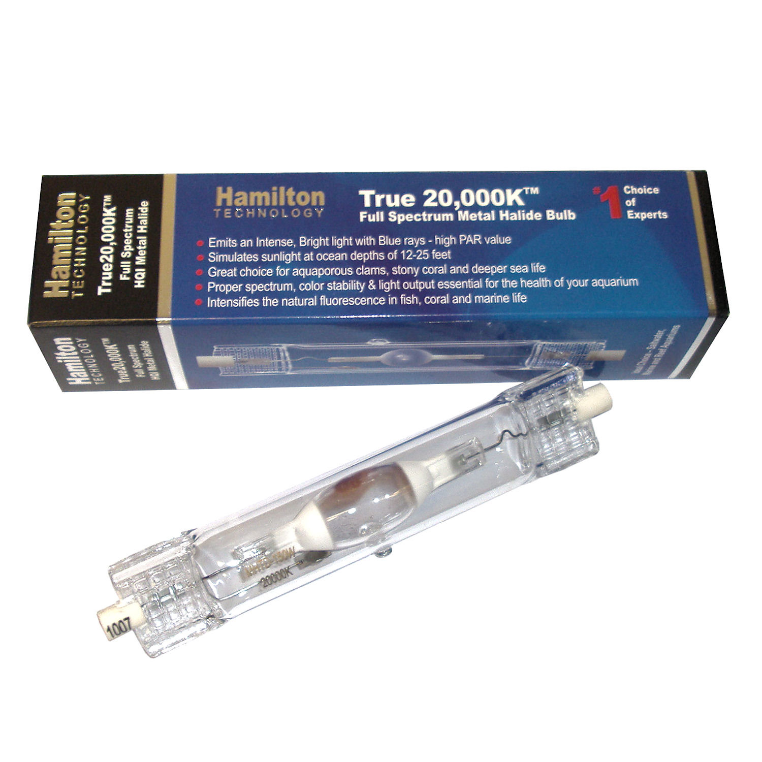 Hamilton Technology Metal Halide HQI 150W 20000K Double Ended Aquarium Light Bulb 150 Watts