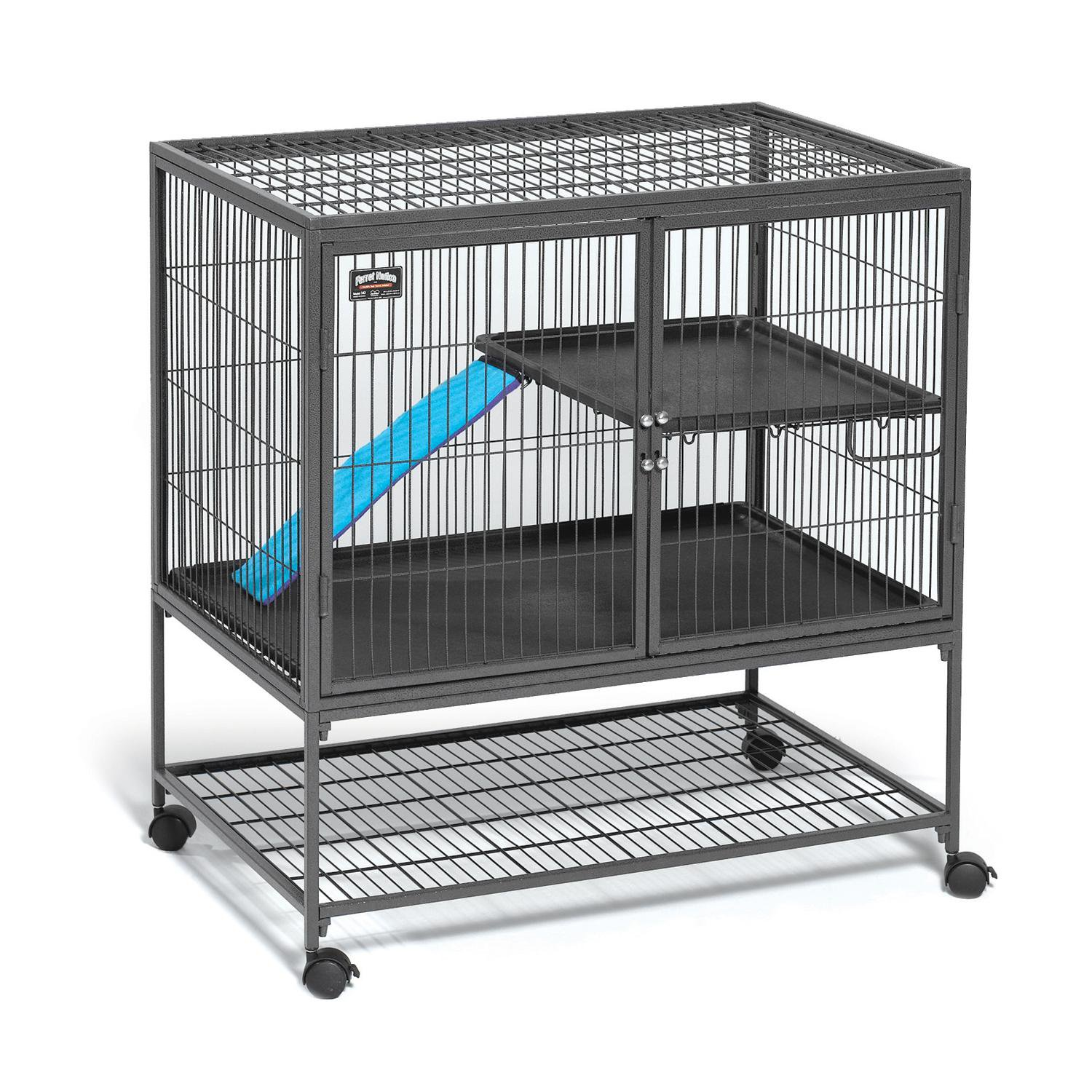 Midwest Ferret Nation Single Unit with Stand Ferret Cage 36 L X 25 W X 38.5 H 36 IN Gray