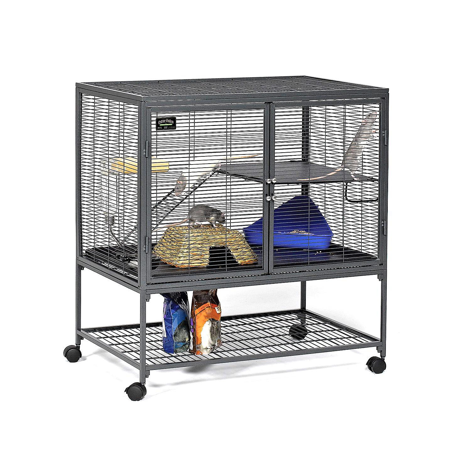 Midwest Critter Nation Single Unit with Stand Small Animal Cage