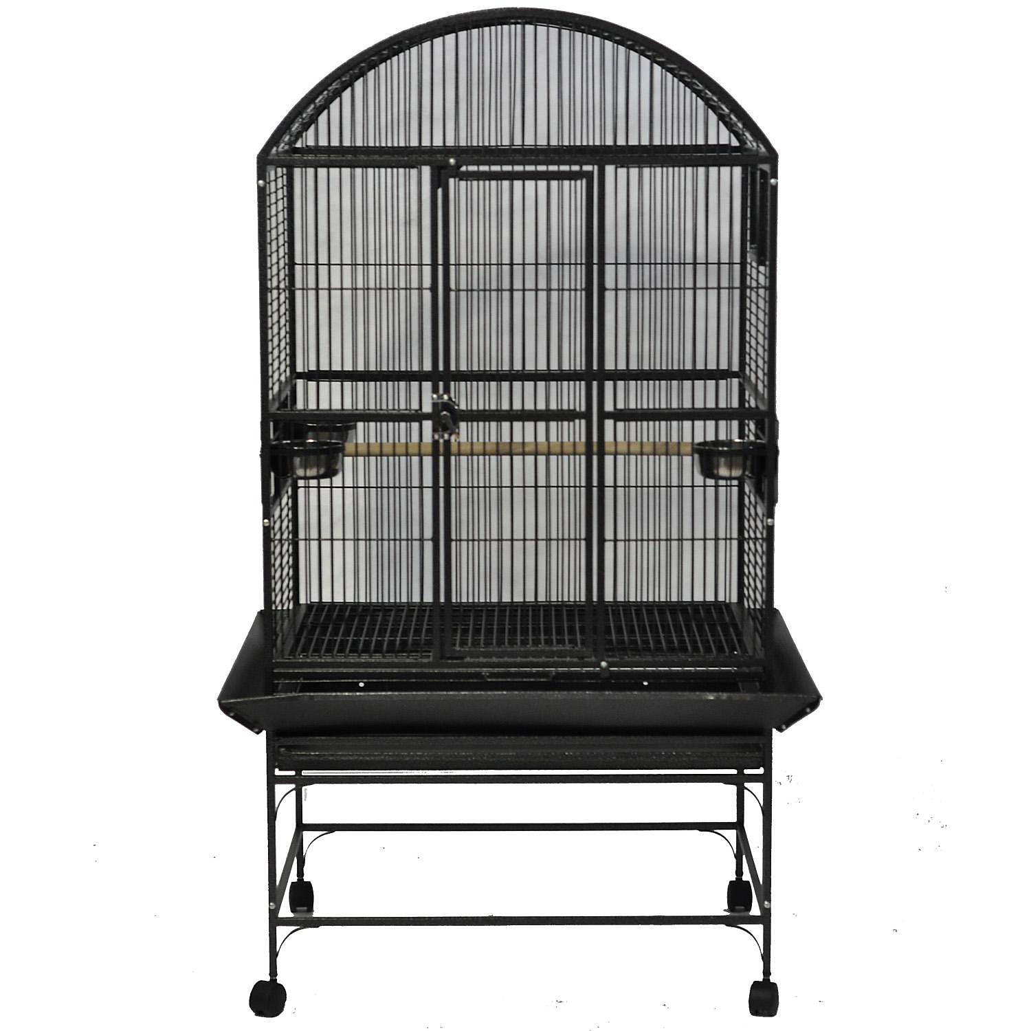 AE Cage Company Stainless Steel Palace Dometop Bird Cage 32 L X 23 W X 63 H 32 IN Gray