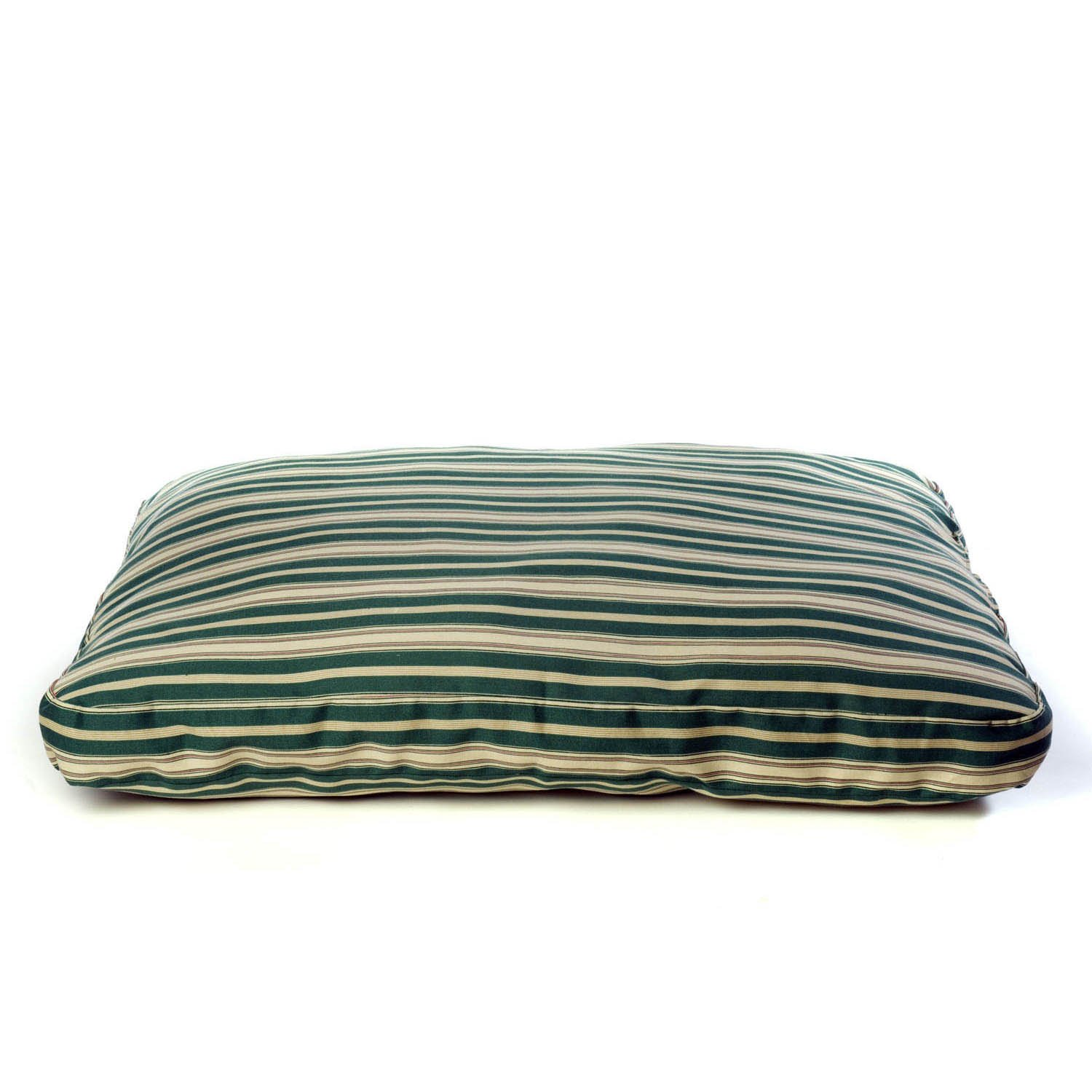 Carolina Pet Company Indoor Outdoor Jamison Green Striped Dog Bed 42 L X 30 W X 4 H Medium