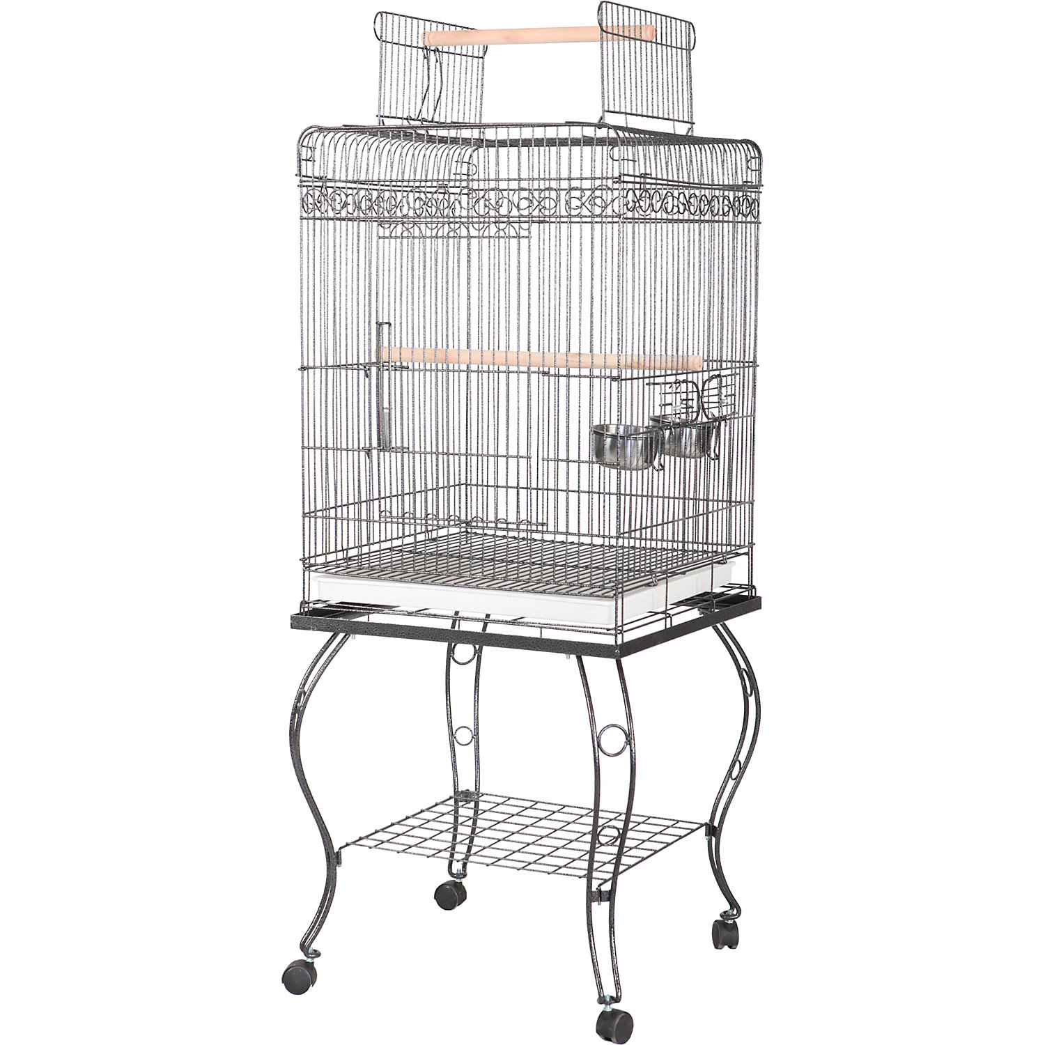AE Cage Company 20 X 20 Play Top Bird Cage in Platinum Gray