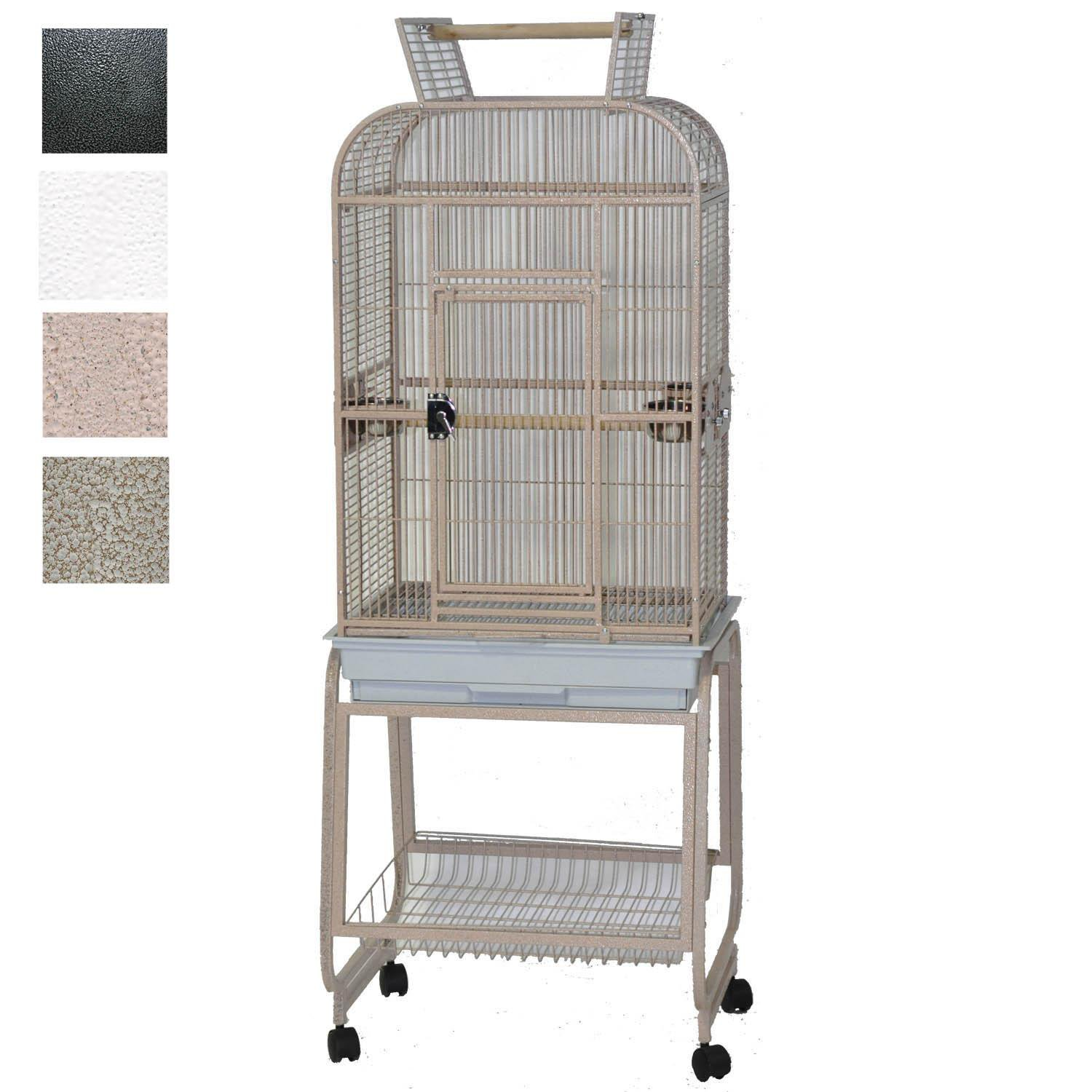 AE Cage Company Play Top Bird Cage with Plastic Base 22 L X 17 W X 66 H Platinum 22 IN Gray