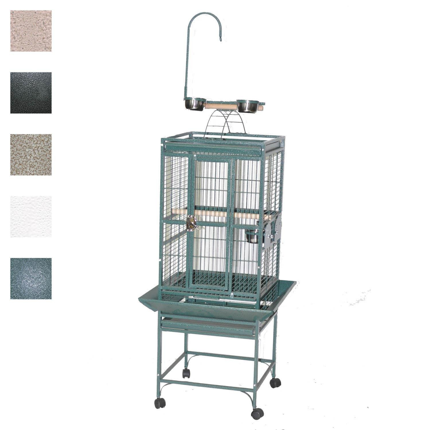 AE Cage Company 18 X 18 Play Top Bird Cage in Platinum Gray