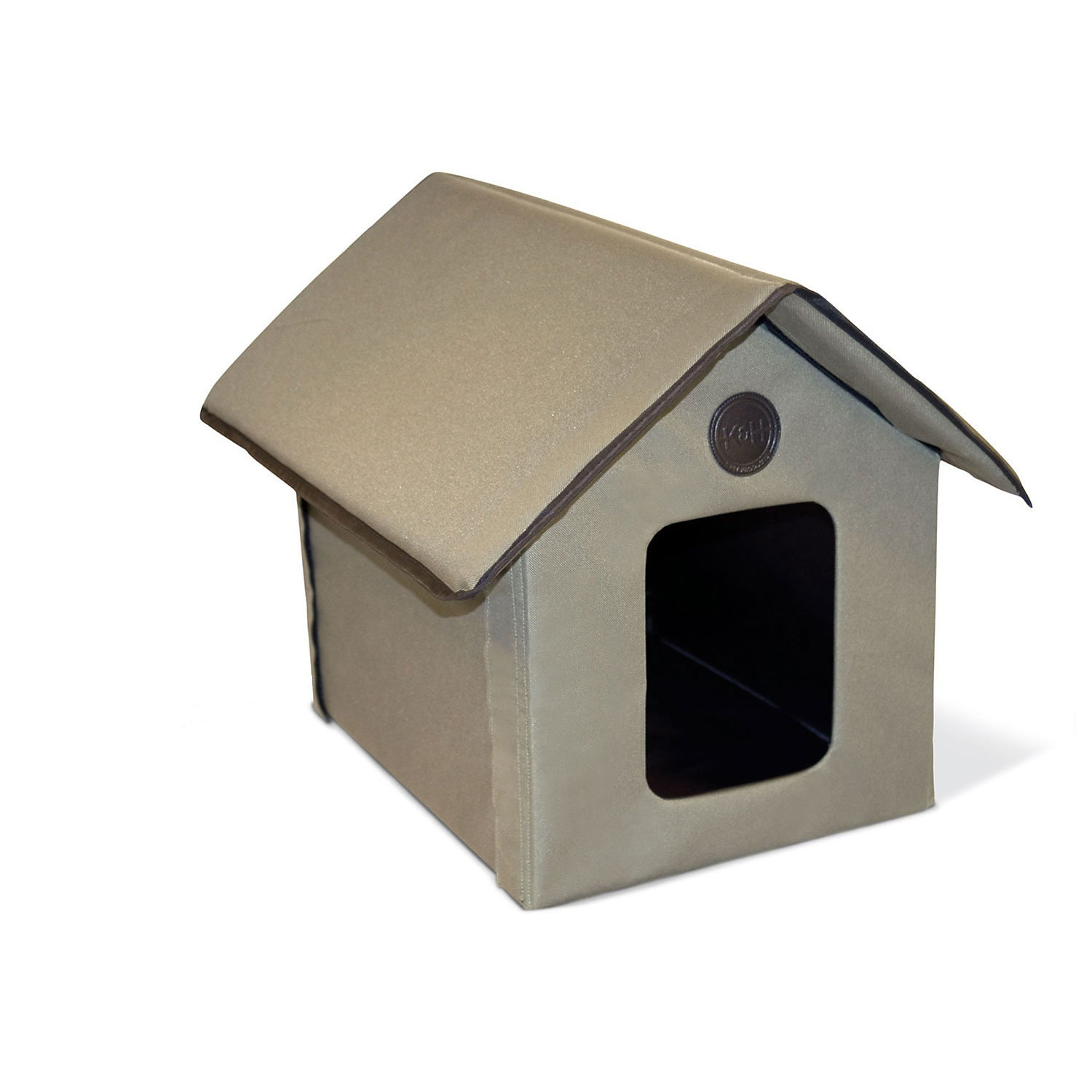 KH Outdoor Kitty Cat House in Olive Green