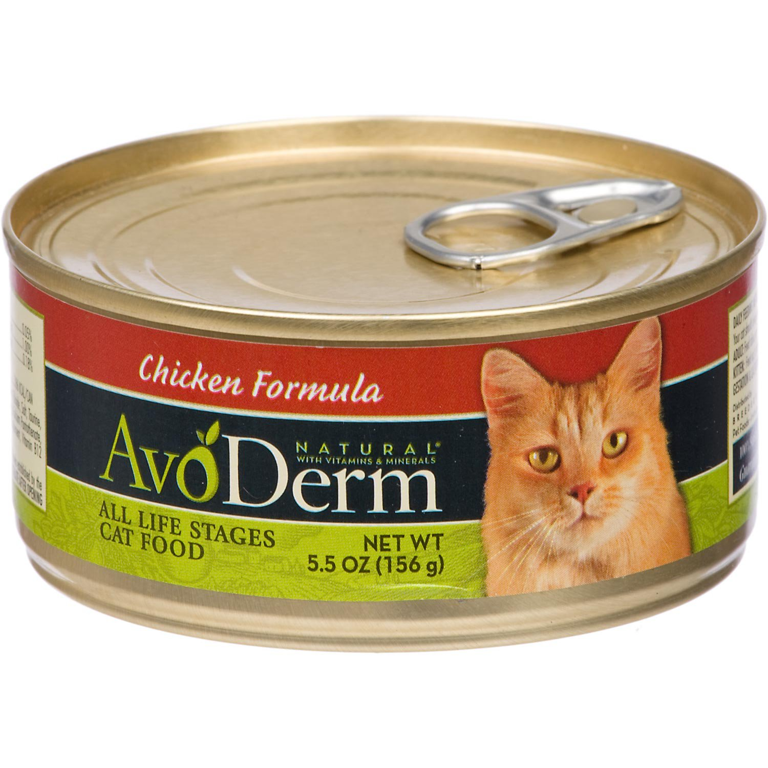 AvoDerm Natural Kitten  Adult Chicken Canned Cat Food 5.5 oz. Case of 24 24 X 5.5 OZ