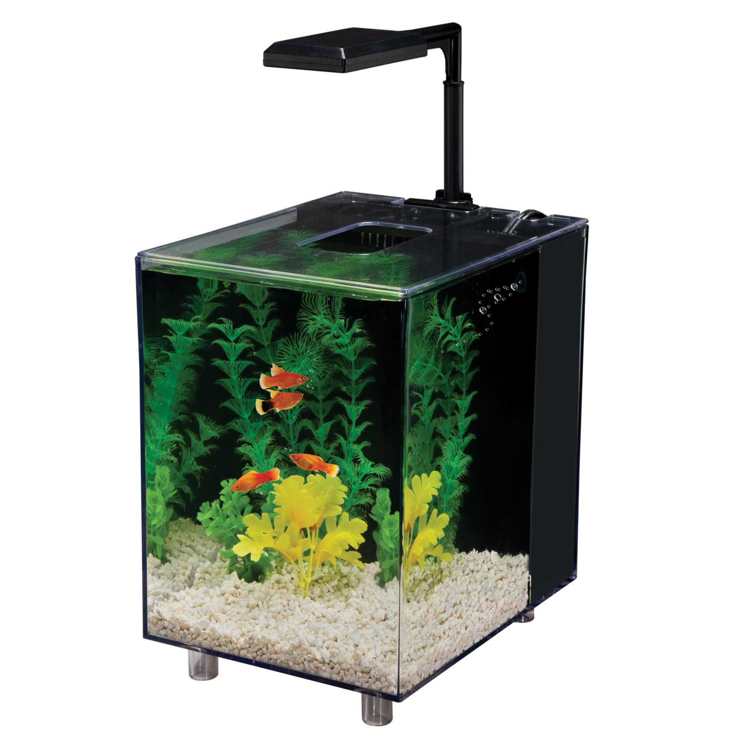 Penn Plax 2 Gallon Prism Nano Aquarium Kit Black