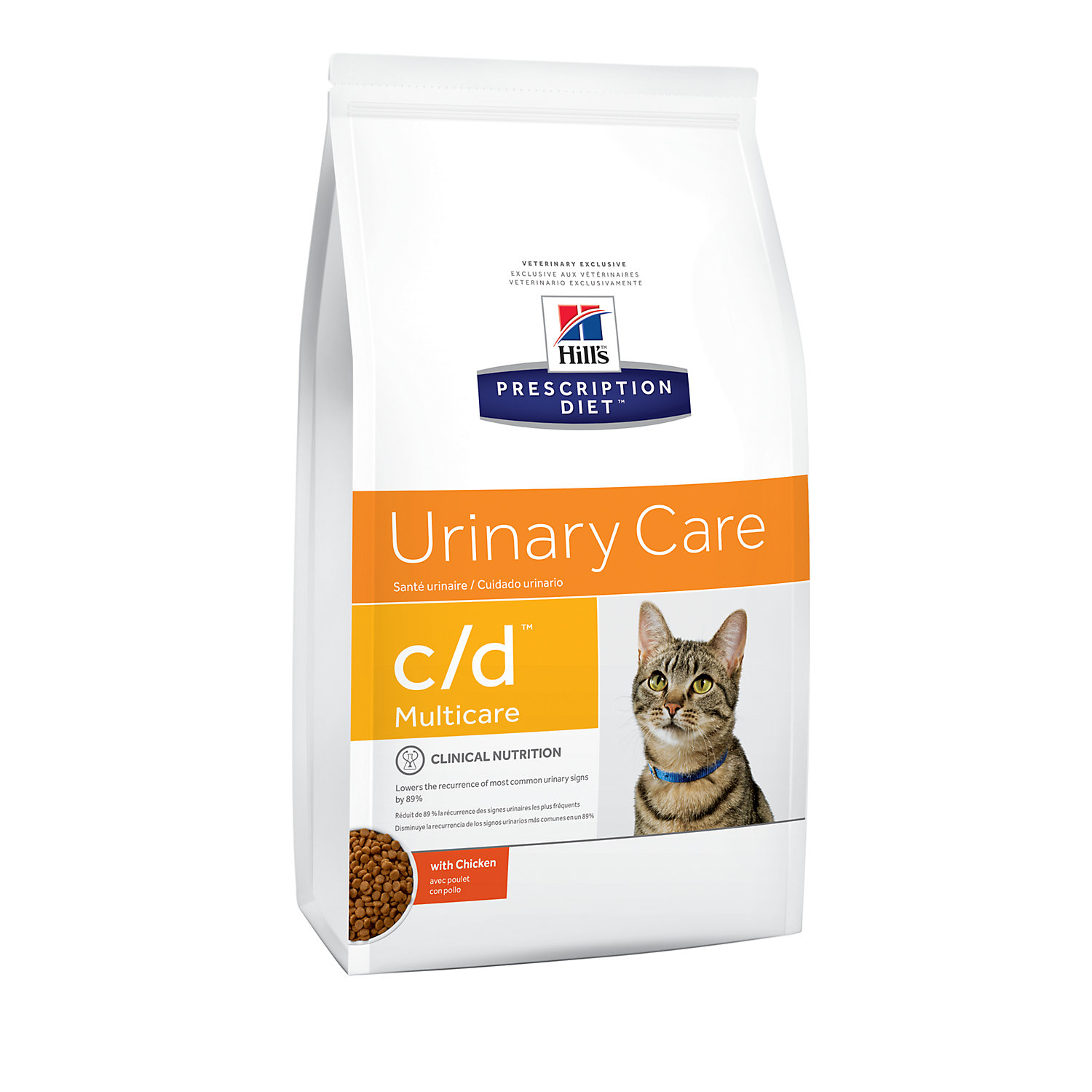 Hills Prescription Diet cd Multicare Urinary Care with Chicken Dry Cat Food 17.6 lbs. Bag