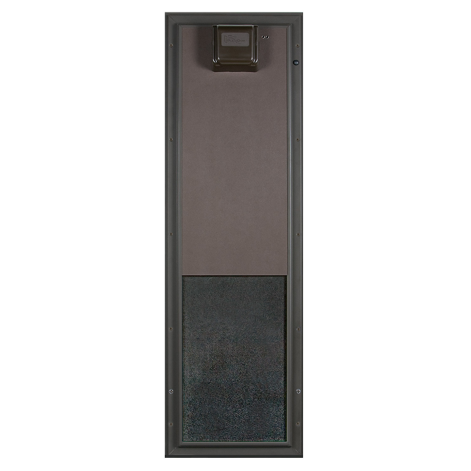 Plexidor Large Wall Mount PDE Electronic Pet Door in Bronze Large Brown