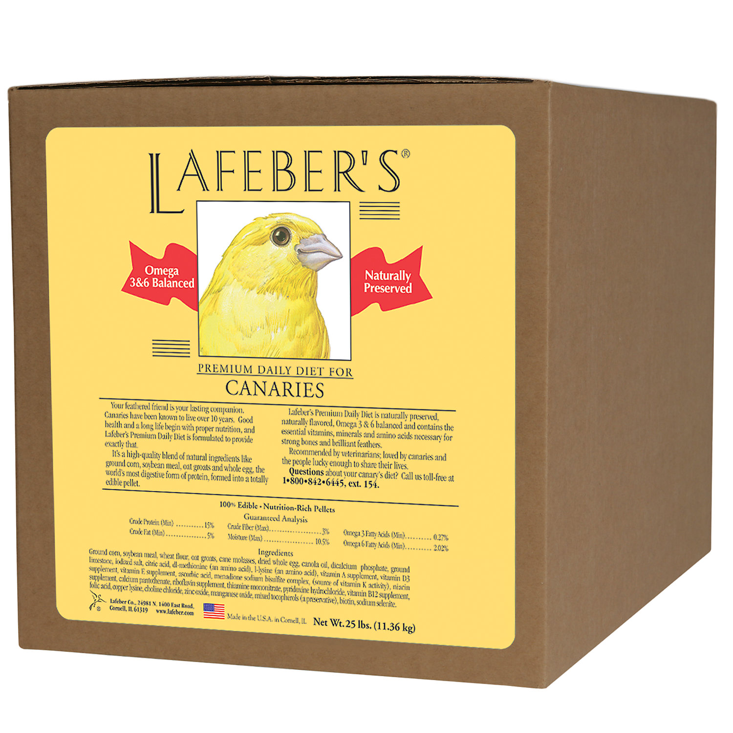 Lafebers Premium Daily Diet for Canaries 25 LB