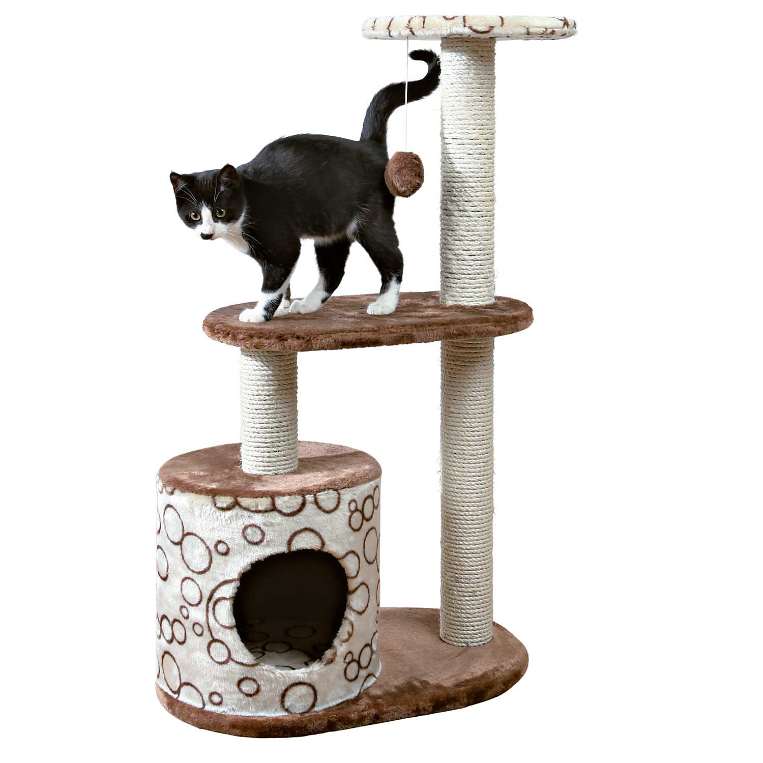Trixie Casta Cat Tree in Beige  Brown