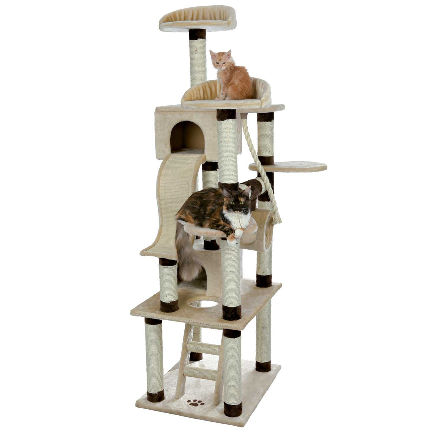 Trixie Adiva Cat Playground in Beige  Chocolate Brown 82.25 24 IN