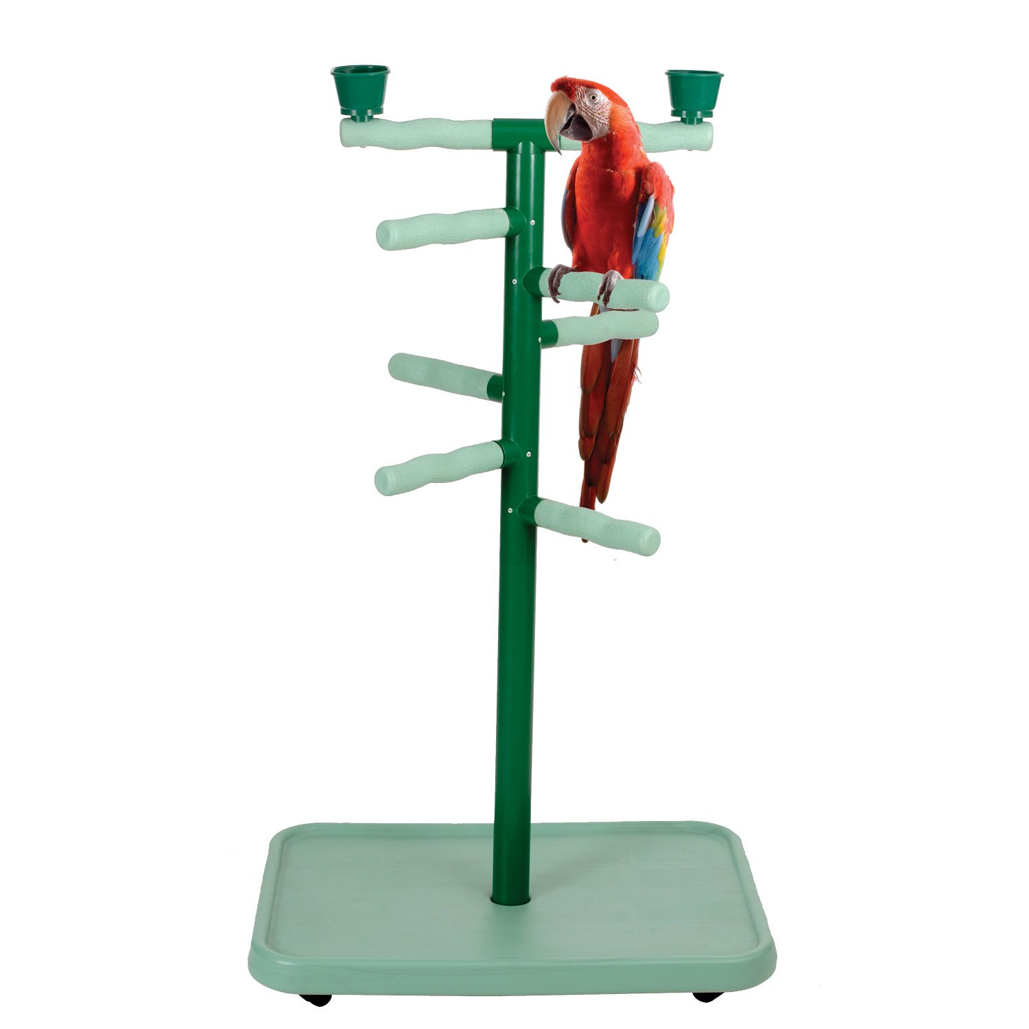 Caitec Acrobird Large Floor Stand Play Tower 32 L X 22 W X 54 H Green