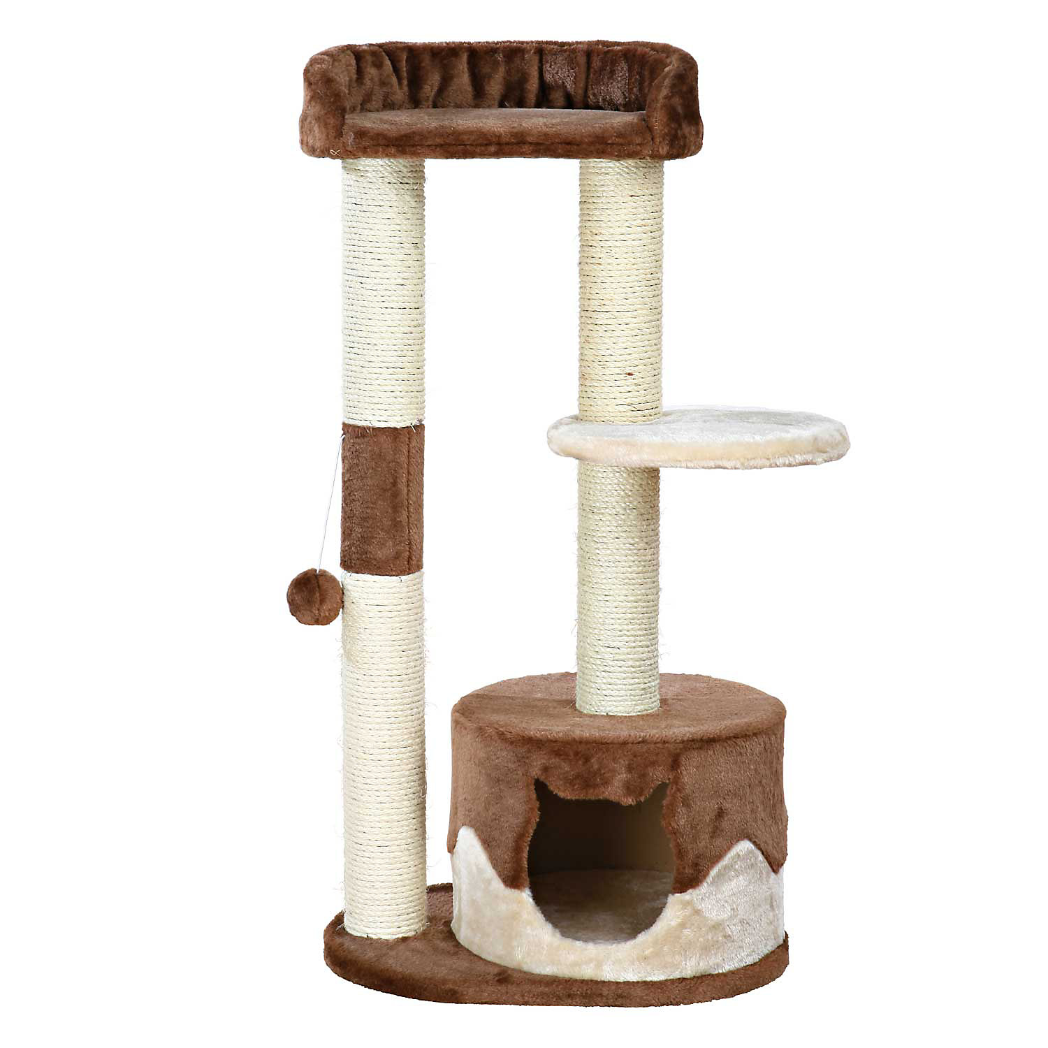 Trixie Pilar Cat Tree 39.25 H 19.5 IN Brown