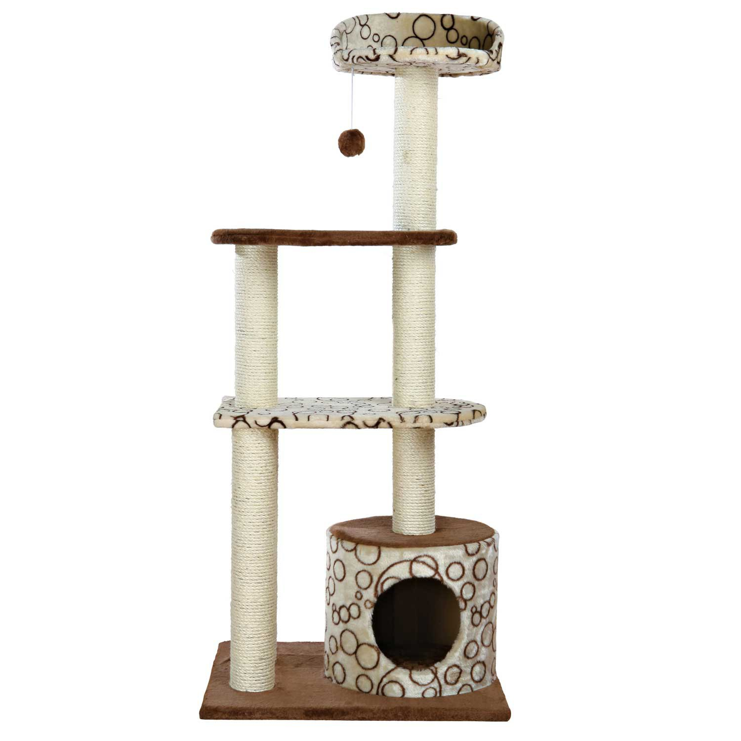 Trixie Gaspard Cat Tree Playground 54.25 H Standard Brown