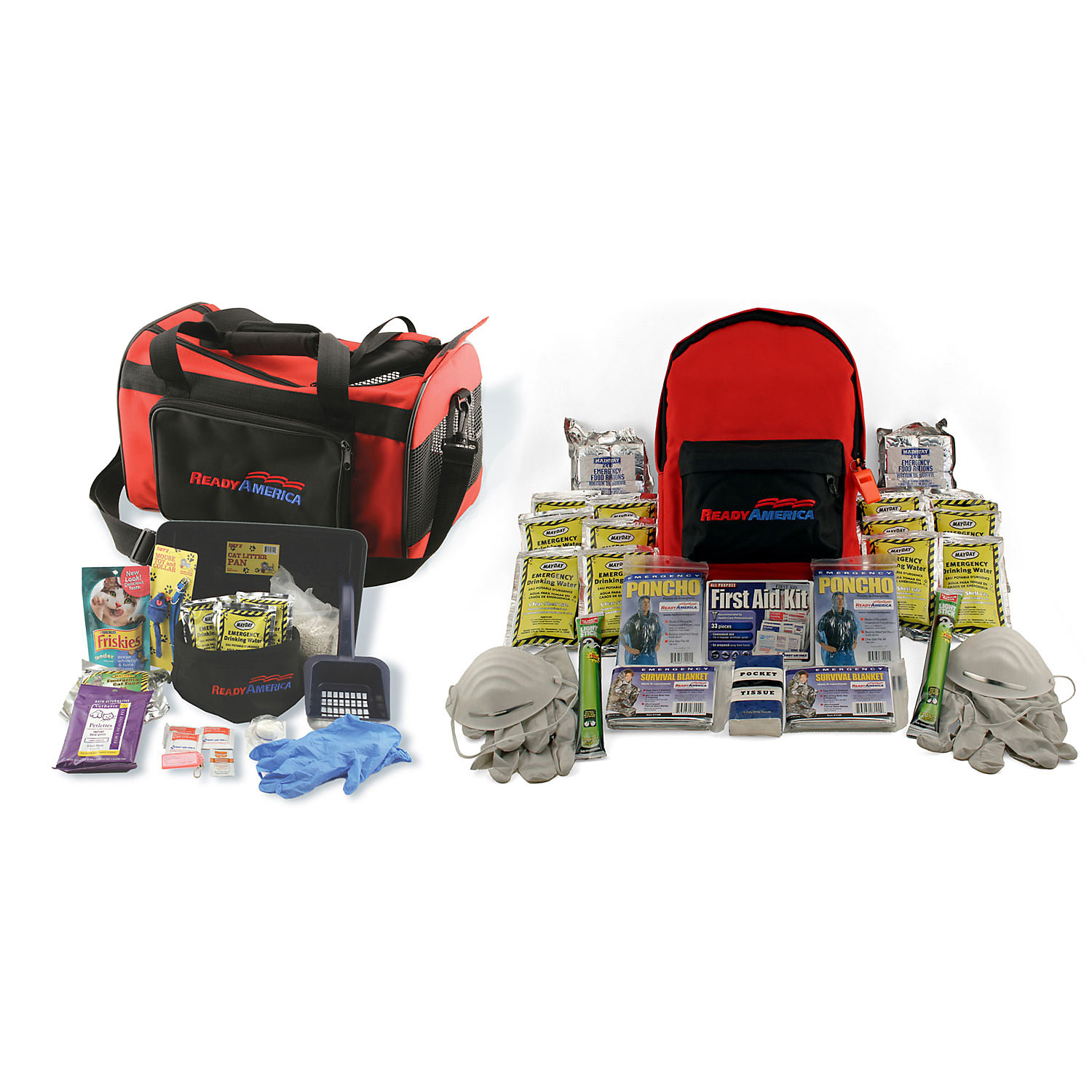 Ready America Grab n Go Cat and Two Person 3 Day Emergency Kit