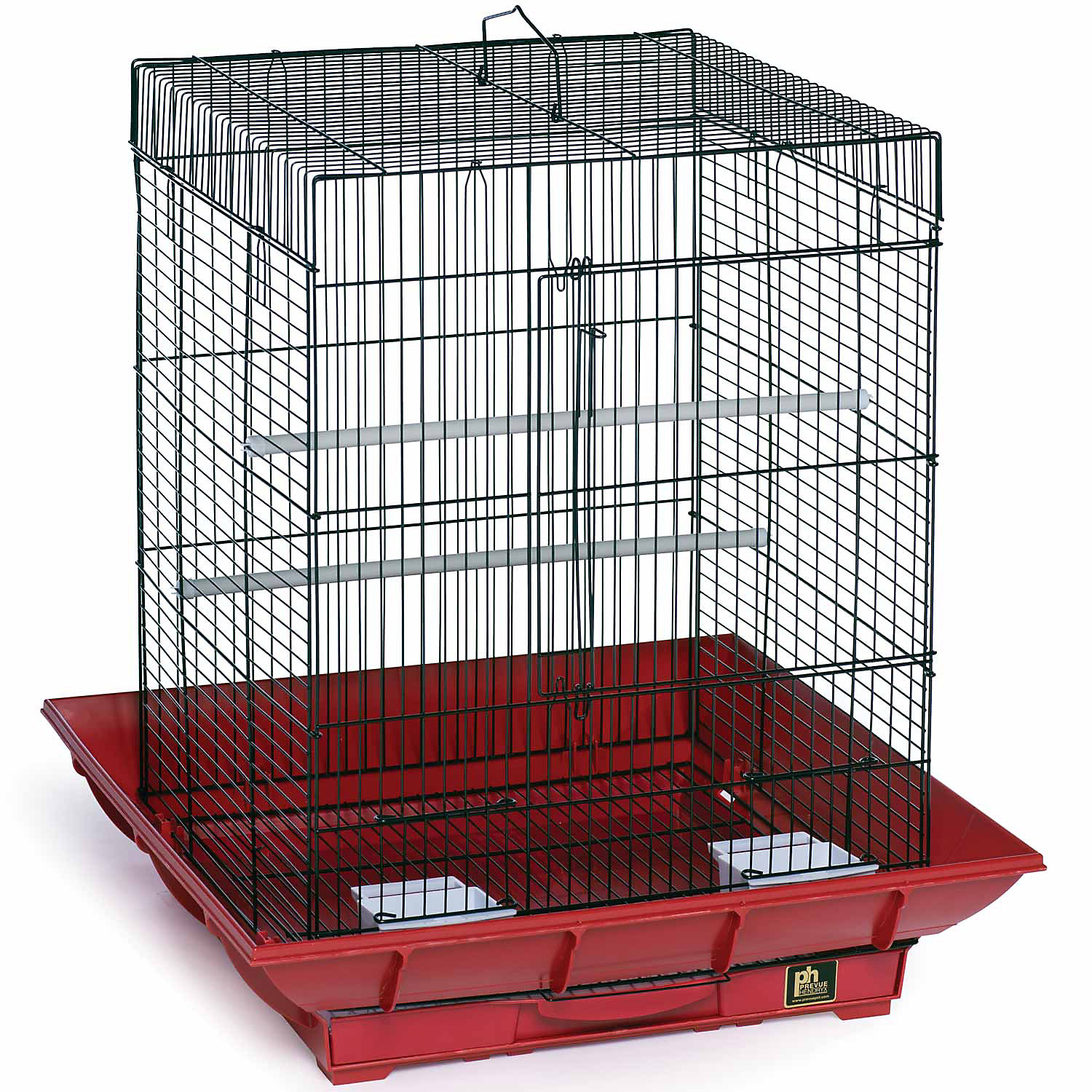 Prevue Pet Products Clean Life Series Bird Cage in Red  Black