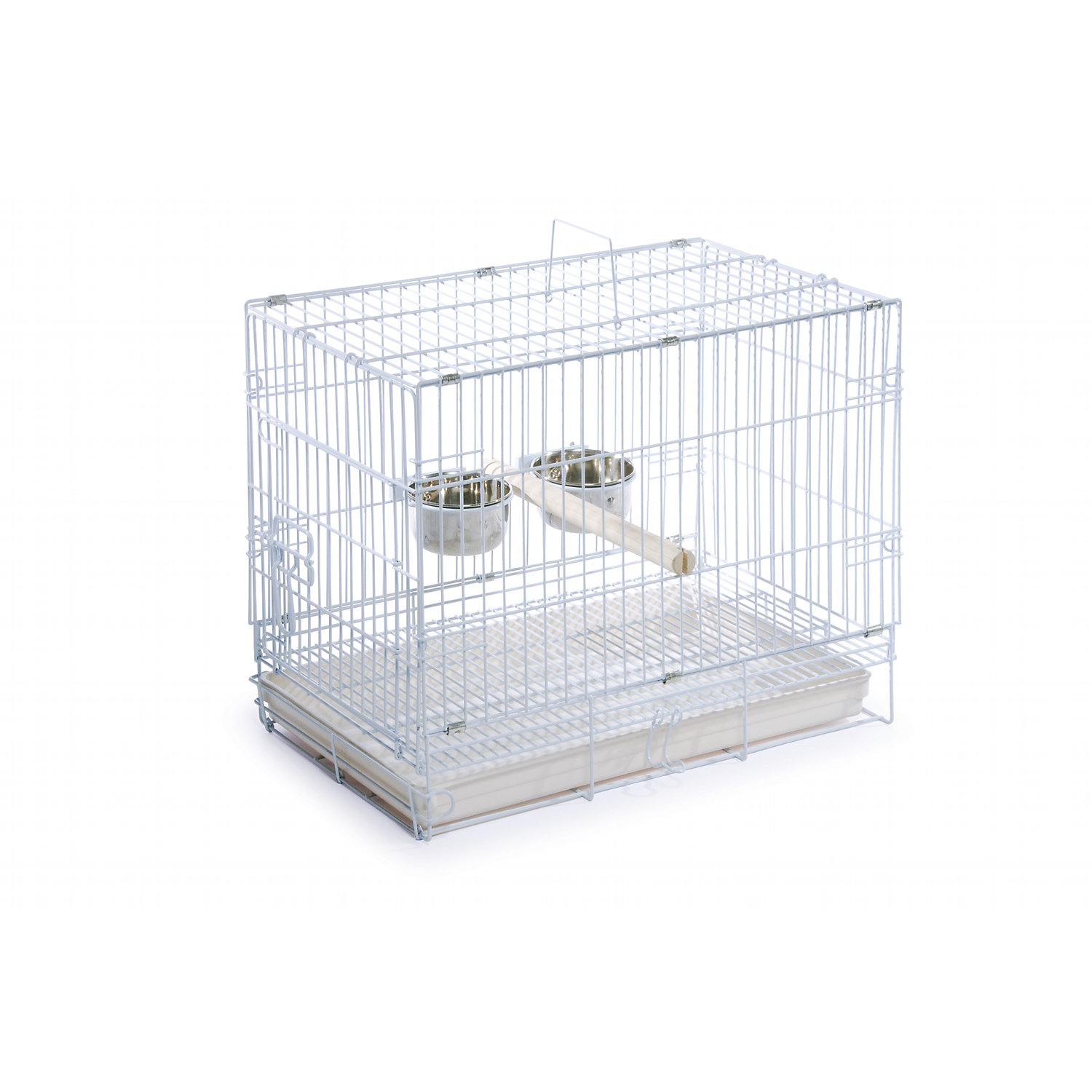 Prevue Hendryx White Travel Bird Cage
