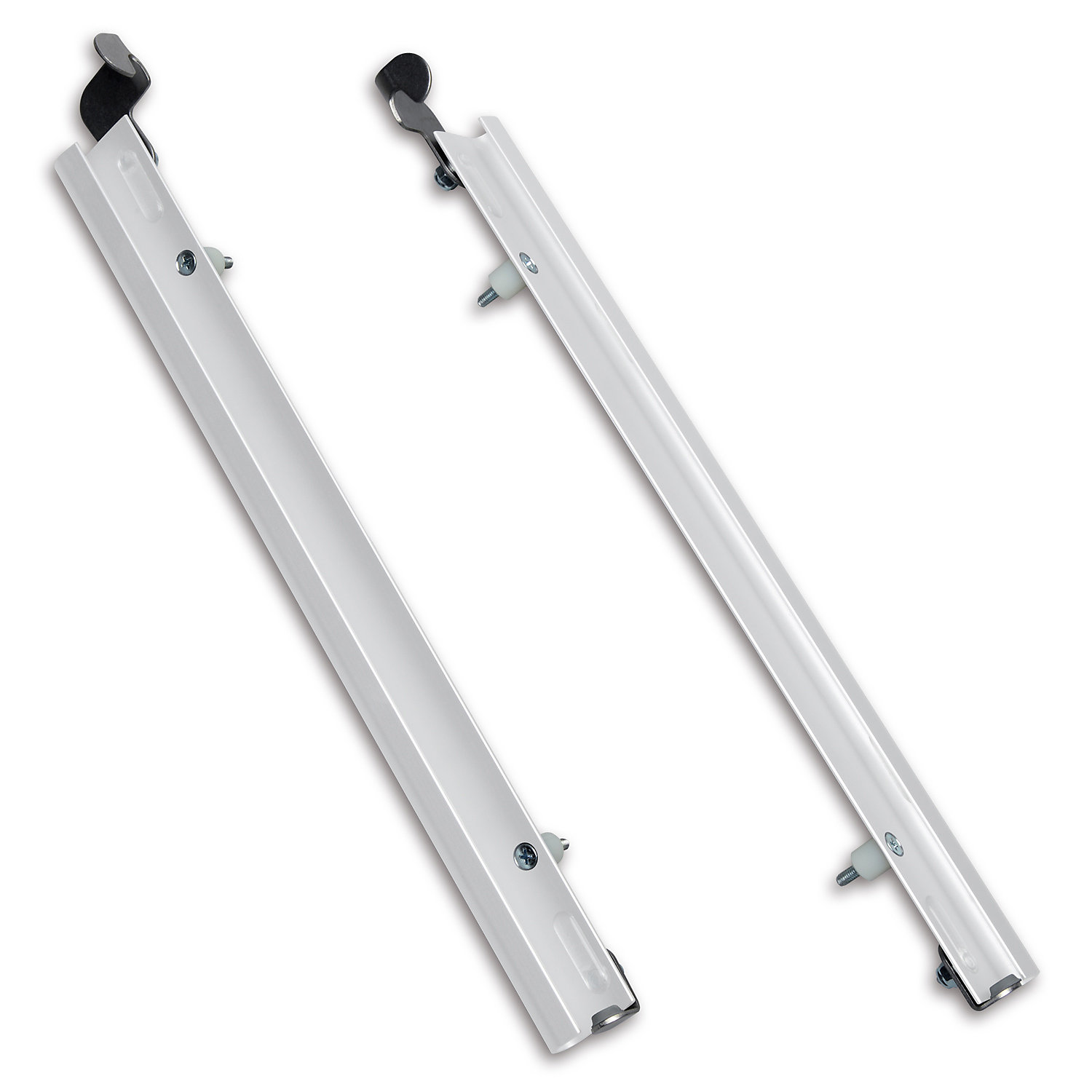 Plexidor Large Sliding Tracks with Flip Lock for Pet Doors in White