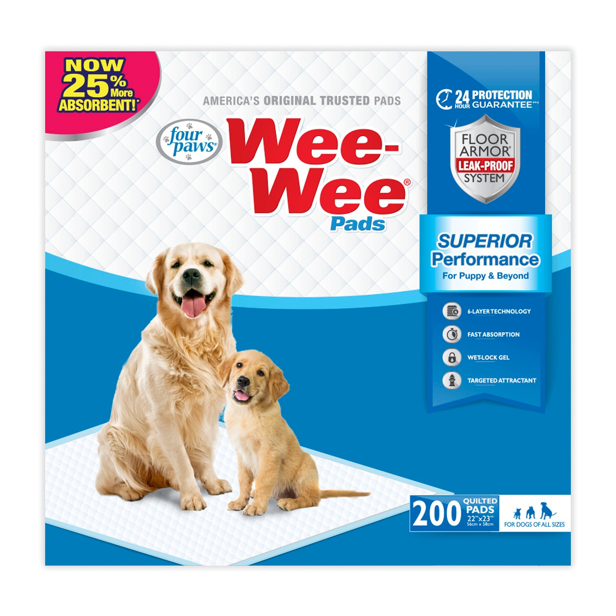 WeeWee Pads 200 Count 200 CT