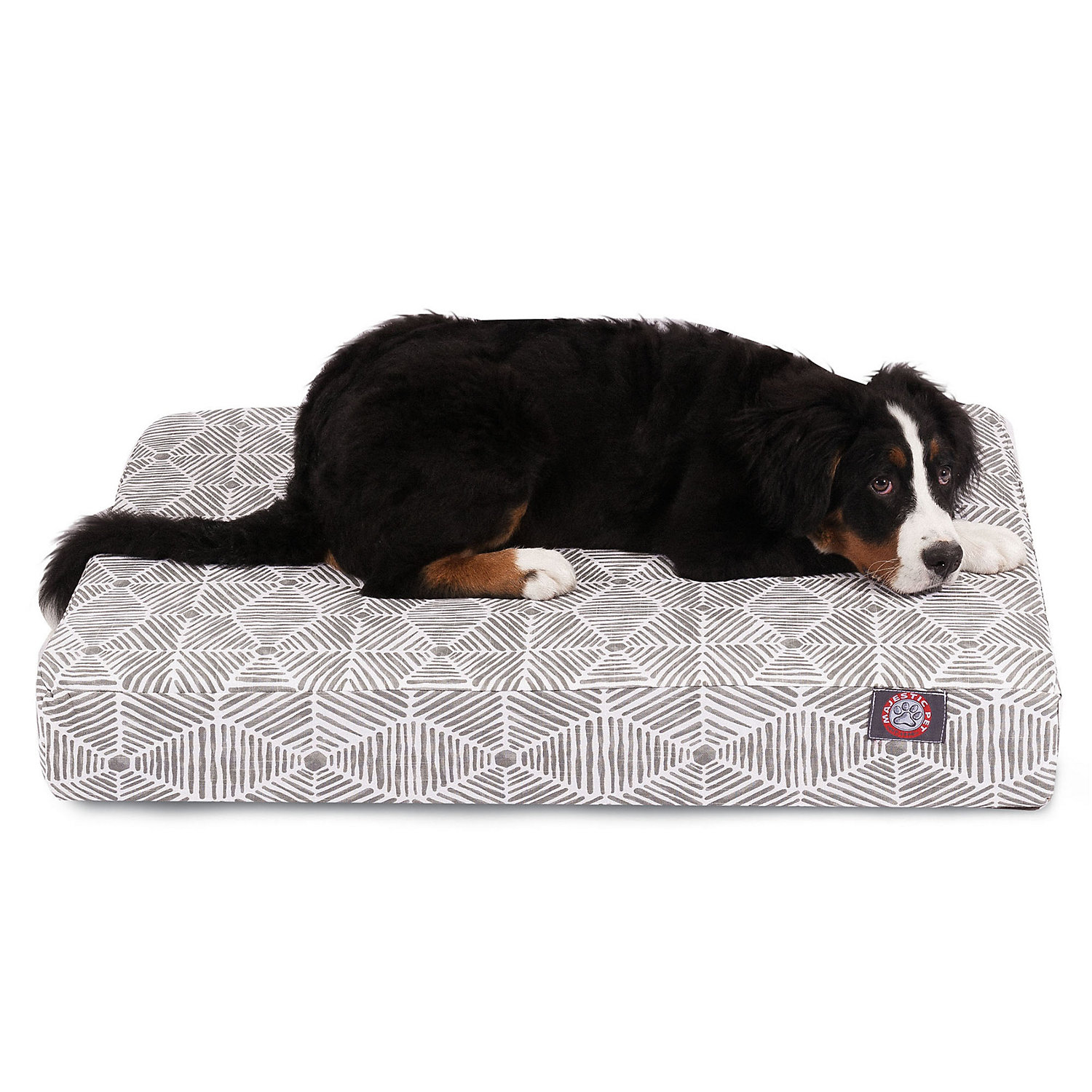 Majestic Pet Gray Charlie Orthopedic Memory Foam Rectangle Dog Bed 36 L x 29 L Large Grey