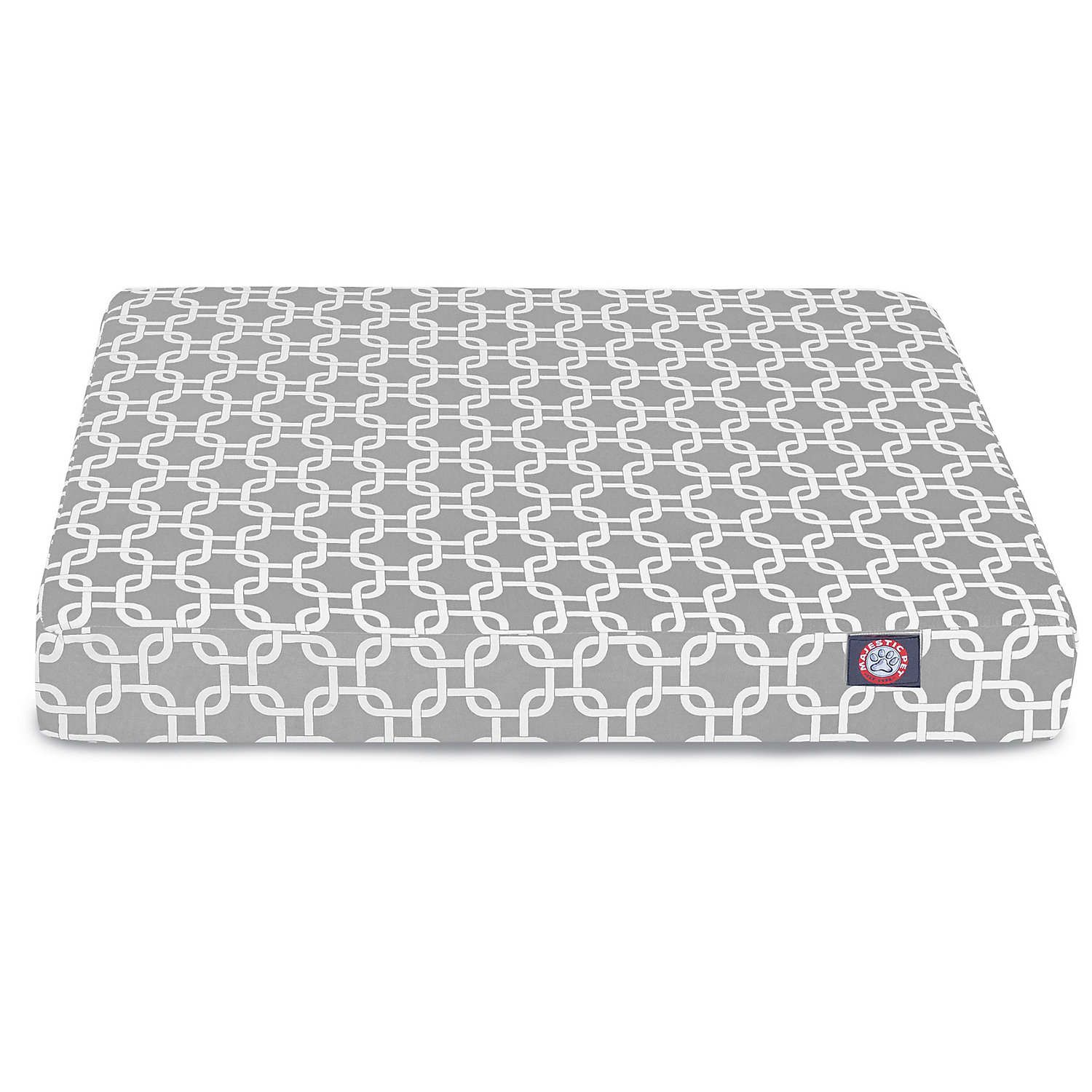 Majestic Pet Gray Links Orthopedic Memory Foam Rectangle Dog Bed 27 L x 20 W Small Grey