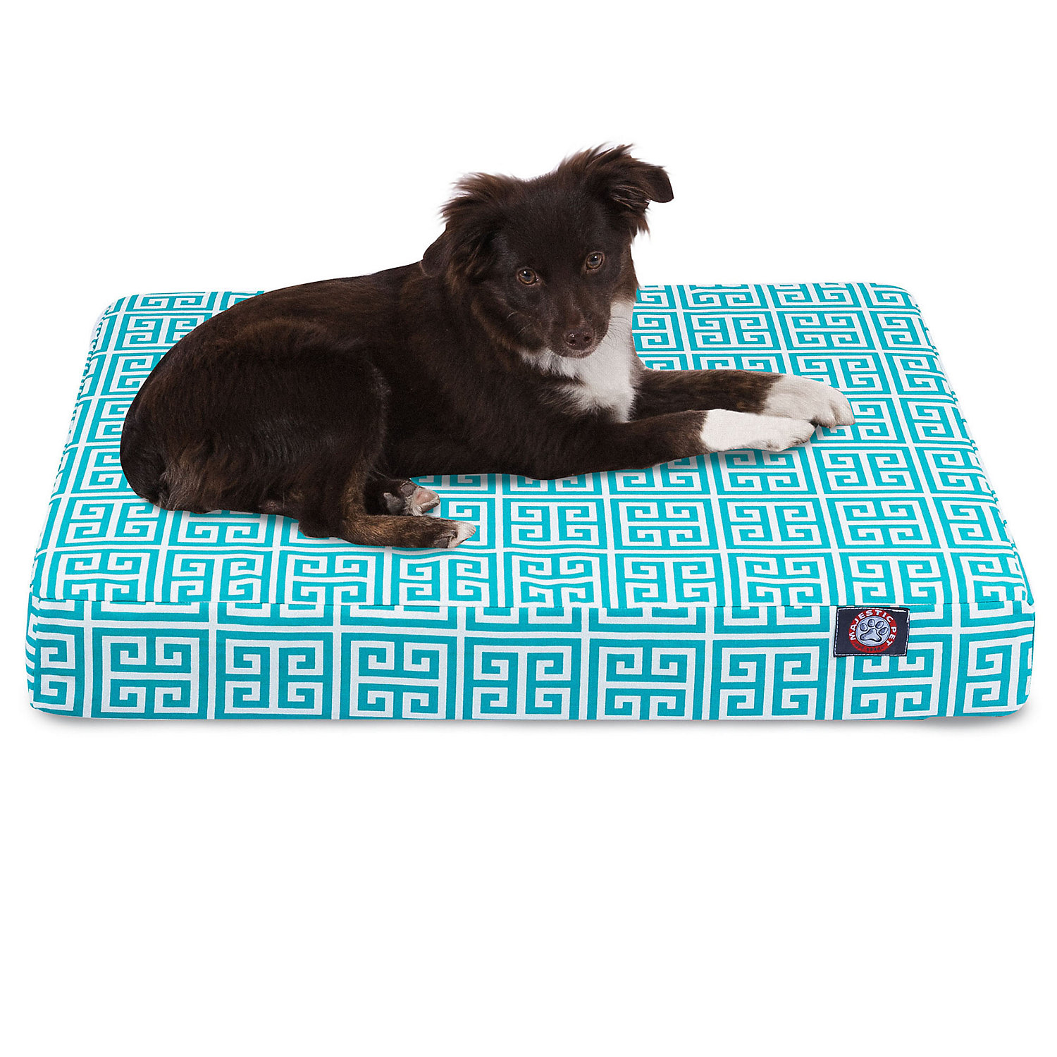 Majestic Pet Pacific Towers Orthopedic Memory Foam Rectangle Dog Bed 27 L x 20 W Small Blue